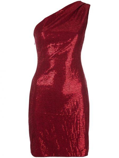 Облегающее красное нейлоновое платье с пайетками Haney
