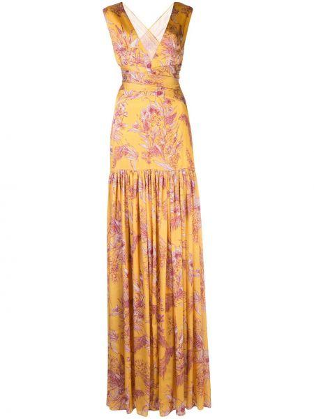 Платье макси с цветочным принтом с V-образным вырезом Alexis