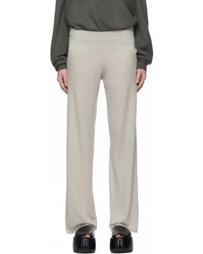 Z kaszmiru beżowe spodnie Frenckenberger