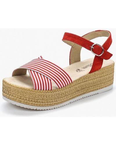 Красные босоножки на каблуке S.oliver