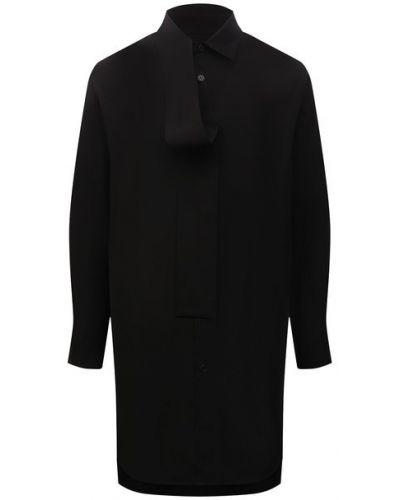 Хлопковая рубашка - черная Y`s