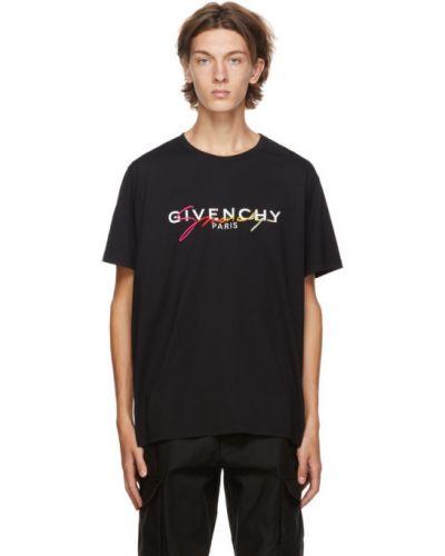 Bawełna czarny koszula krótkie z krótkim rękawem z haftem z kołnierzem Givenchy