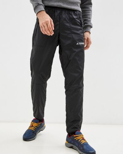 Утепленные брюки - черные Adidas