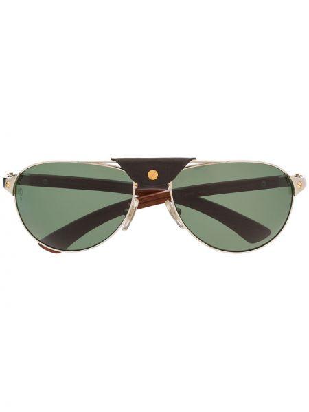 Okulary przeciwsłoneczne srebro szkło Cartier