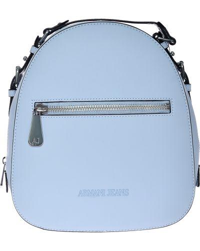 Рюкзак на молнии голубой Armani Jeans