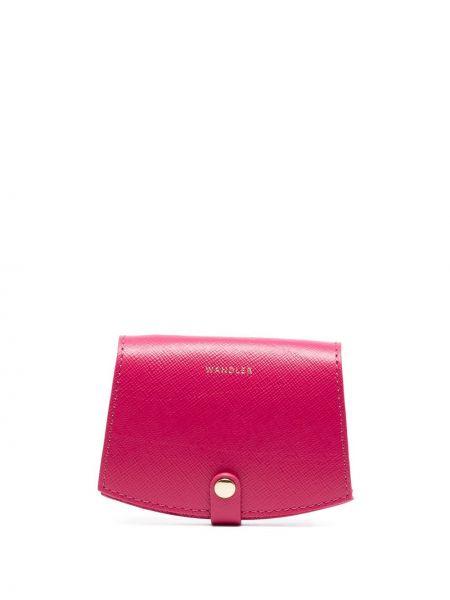 Różowy portfel skórzany Wandler