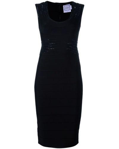 Платье - черное Herv Lger