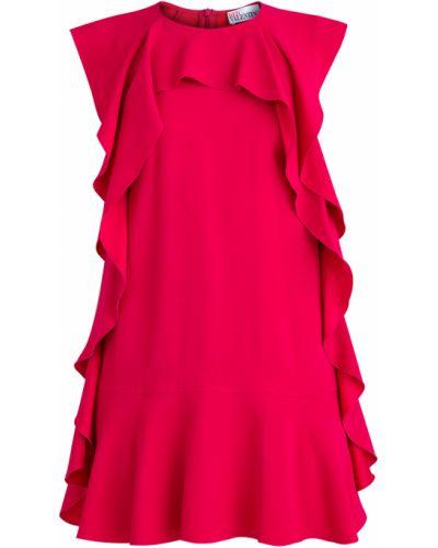 Платье мини с оборками без рукавов Redvalentino