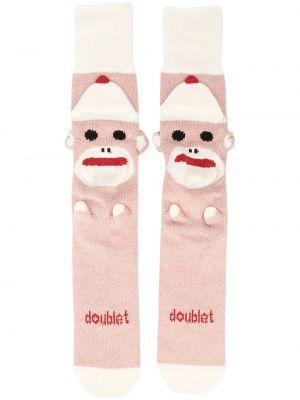 Różowe skarpety bawełniane Doublet
