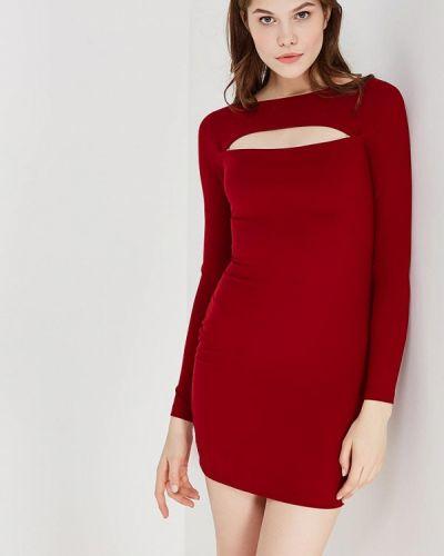 Платье осеннее красный Koralline