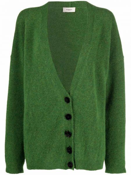 Кардиган из альпаки - зеленый Barena