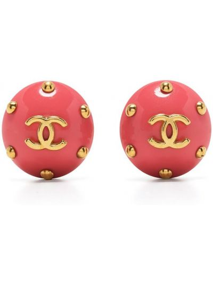 Różowe złote kolczyki Chanel Pre-owned