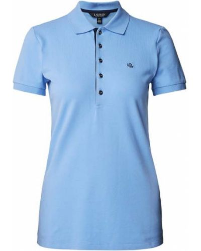 T-shirt bawełniana - niebieska Lauren Ralph Lauren