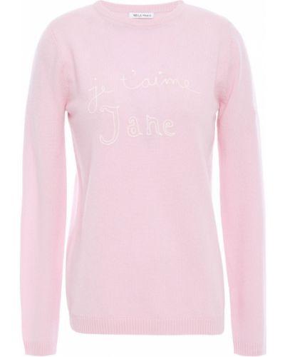 Розовый кашемировый свитер с вышивкой Bella Freud