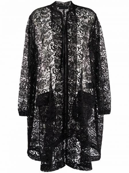Черное пальто с узором Barbara Bologna