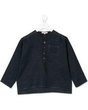 Асимметричная рубашка на пуговицах Caramel