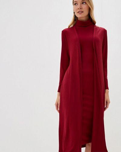 Юбочный костюм бордовый красный Trendyangel