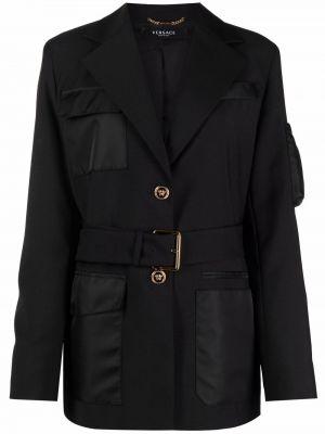 Черная куртка на пуговицах Versace