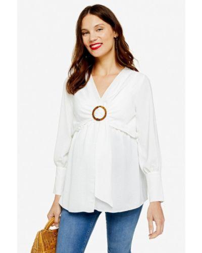 Блузка с длинным рукавом для беременных белая Topshop Maternity