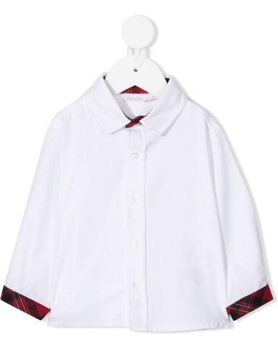 Белая рубашка на пуговицах из вискозы с воротником Patachou