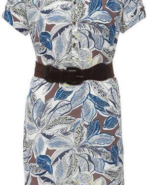Голубое платье из вискозы Finn Flare