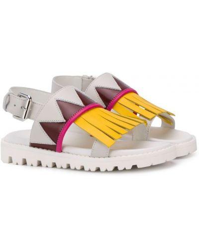 Белые сандалии Marni Kids