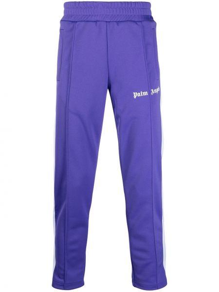 Karmazynowy spodnie w paski z boku z paskami z kieszeniami Palm Angels