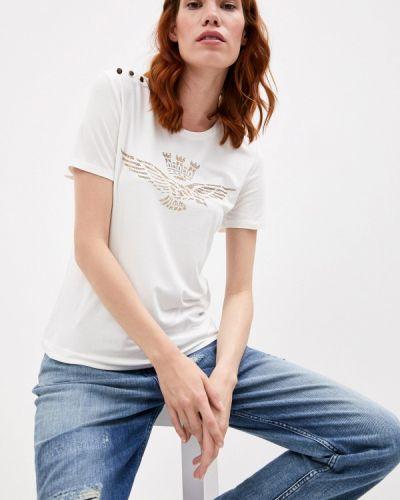 С рукавами белая футболка Aeronautica Militare