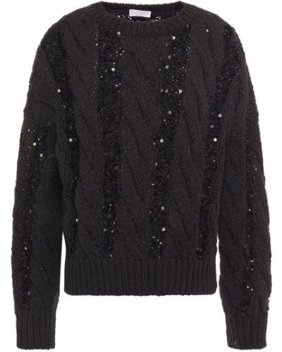 Хлопковый свитер - черный Brunello Cucinelli