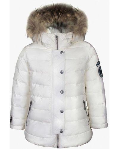 Белая куртка теплая Gulliver