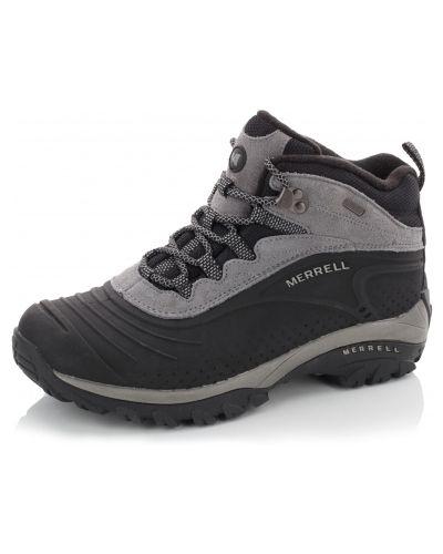 Кожаные ботинки трекинговые - черные Merrell