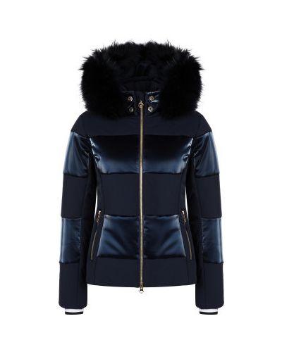 Утепленная синяя куртка горнолыжная на молнии Sportalm