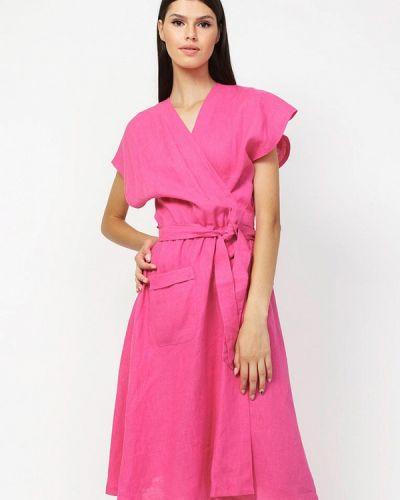 Розовое платье с запахом Dasti