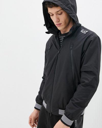 Черная демисезонная куртка Ea7