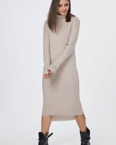 Платье миди вязаное прямое Fly