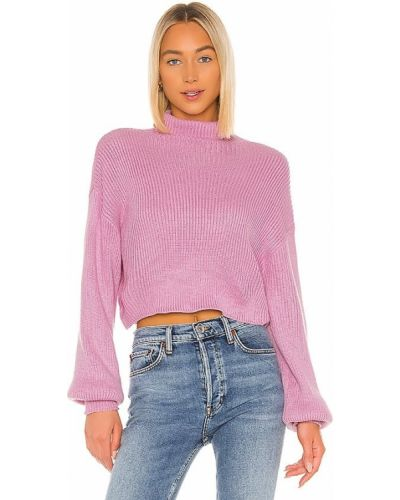 Fioletowy sweter z akrylu Superdown