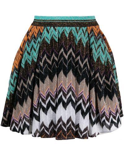 Шелковая черная плиссированная юбка Missoni