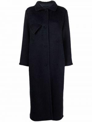 Шерстяное пальто - синее Bevza