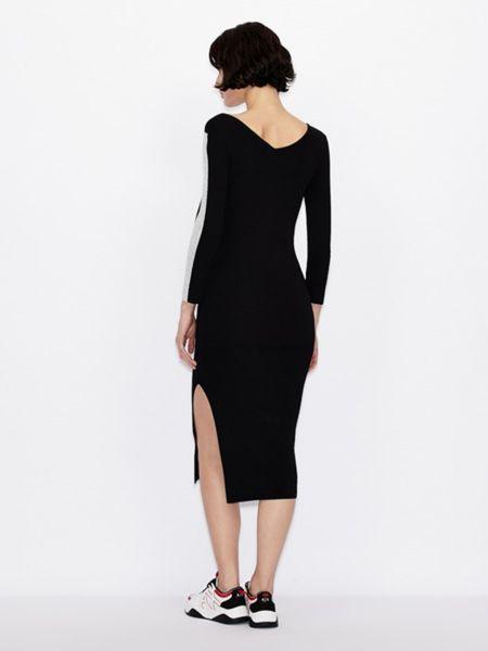 Платье макси длинное - черное Armani Exchange