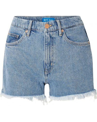 Текстильные синие джинсы Mih Jeans