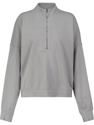 Хлопковый свитшот - серый Velvet