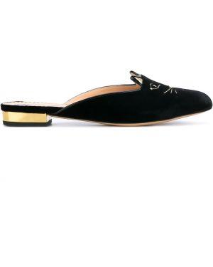 Мюли кожаные на каблуке Charlotte Olympia