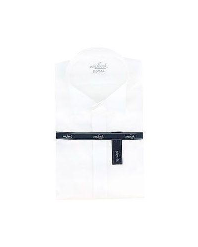 Деловая хлопковая белая классическая рубашка Van Laack