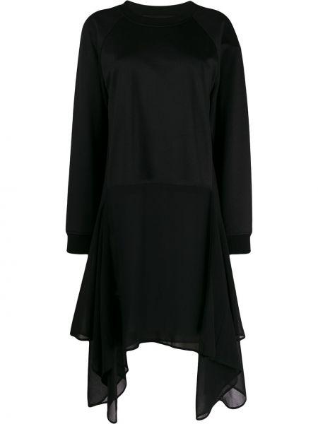 Czarny top z długimi rękawami bawełniany Barbara Bui