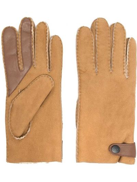 Brązowy rękawiczki prążkowany baranica Ugg