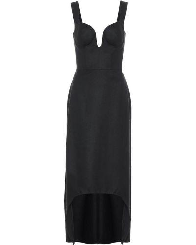 Домашнее черное фланелевое платье миди Alexander Mcqueen