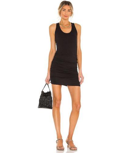 Czarna sukienka w kształcie litery A z falbanami bawełniana Monrow