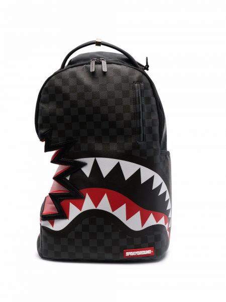 Черная сумка с нашивками Sprayground