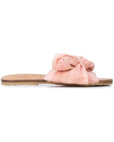 Шлепанцы на каблуке розовый Brother Vellies