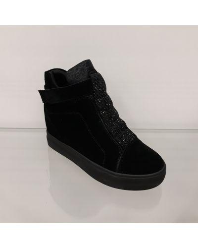Замшевые ботинки - черные Lonza